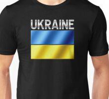 Ukraine - Ukrainian Flag & Text - Metallic Unisex T-Shirt