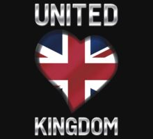 United Kingdom - British Flag Heart & Text - Metallic by graphix