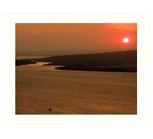 Sunset at Bastian Art Print