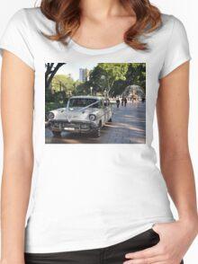 1957 Chevrolet Limousine, Hyde Park, Sydney, Australia 2012 Women's Fitted Scoop T-Shirt