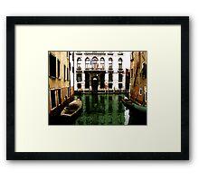 GREEN STREETS OF VENICE Framed Print