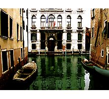 GREEN STREETS OF VENICE Photographic Print