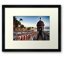 Gate of Old San Juan with a Sentry Post Framed Print