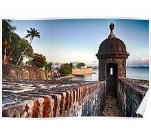 Gate of Old San Juan with a Sentry Post Poster