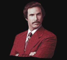 Anchorman Ron Burgundy T Shirt by movieshirtguy