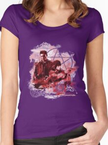 Supernatural Watercolor Women's Fitted Scoop T-Shirt