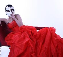 Lady in Red Masked by celticvodka