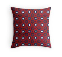 Sindhi Ajrak Design Throw Pillow