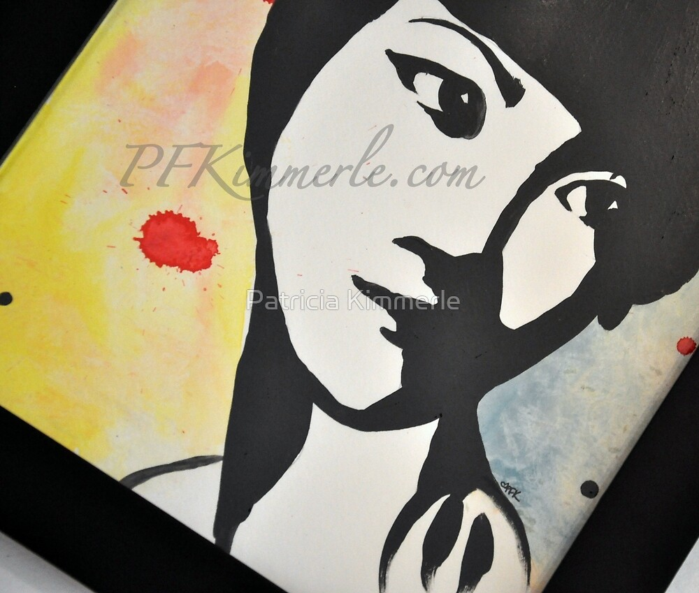 Anna May Wong Never Forgotten Wall Art (watercolor) Portrait  by Patricia Kimmerle