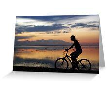 Boy on a Bike Greeting Card