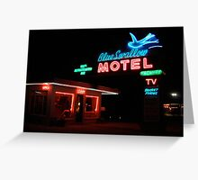 Blue Swallow Motel Greeting Card