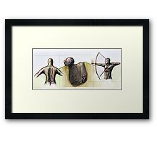 The Foolish Triptych - Proverbs 26 Framed Print