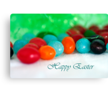 Jelly Bean Greeting ~ Happy Easter Canvas Print