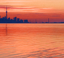 Brilliant Colorful Morning - Toronto Skyline Impressions Sticker