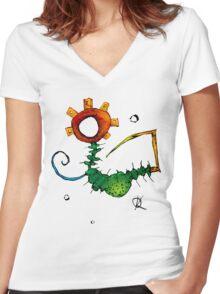 Antics02 Women's Fitted V-Neck T-Shirt