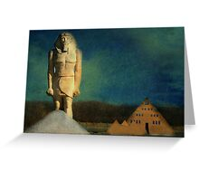 Golden Pyramid House Greeting Card
