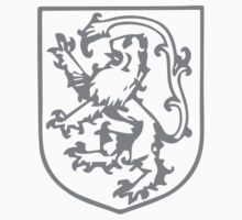 A Complete Guide to Heraldry - Figure 290 — Lion rampant, tail elevated and turned over its head One Piece - Short Sleeve