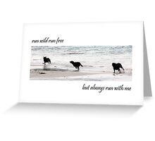 Run Wild Greeting Card