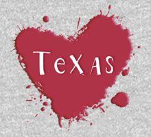 Texas Splash Heart Texas by Greenbaby