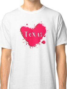 Texas Splash Heart Texas Classic T-Shirt
