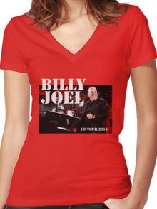 Billy Joel live Women's Fitted V-Neck T-Shirt