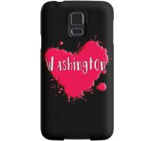 Washington Splash Heart Washington Samsung Galaxy Case/Skin