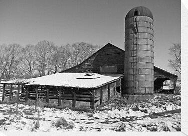 Winter Barn by g richard anderson