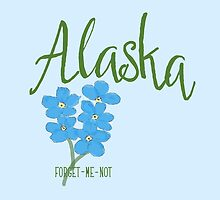 Alaska State Flower Forget Me Not by Greenbaby