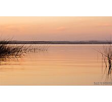 Sunset at the lake, Uruguay. Photographic Print