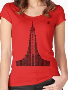 Hallgrimskirkja (Icelandic Cathedral) Women's Fitted Scoop T-Shirt