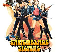 Switchblade Sisters Alt 1 (Pink) by PulpBoutique