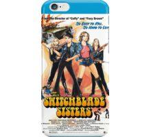 Switchblade Sisters Alt 1 (Blue) iPhone Case/Skin