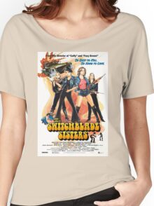 Switchblade Sisters Alt 1 (Blue) Women's Relaxed Fit T-Shirt