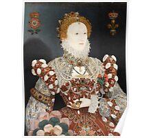 Nicholas Hilliard - Portrait of Queen Elizabeth I 1575 Poster