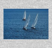 Into The Wind - Crisp White Sails On a Caribbean Blue Kids Clothes