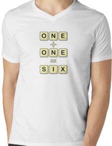 Scrabble Math Mens V-Neck T-Shirt