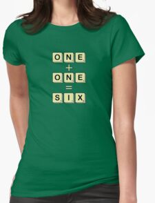 Scrabble Math Womens Fitted T-Shirt