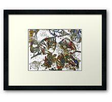 Leaves 17 Mixed Media - Ink on Acrylic Monoprint Framed Print