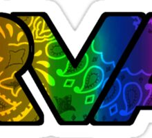 RVA Logo in Rainbow Paisley Sticker