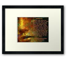 PAINTED KISS... Framed Print