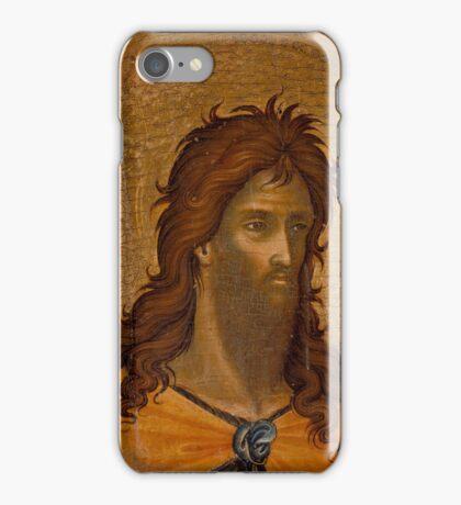 Paolo Veneziano - St. John the Baptist (fragment) iPhone Case/Skin