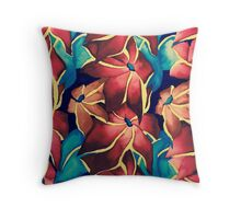 Ombre Florals Throw Pillow