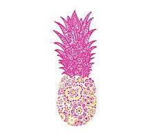 Pink Pineapple Photographic Print