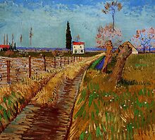 Path Through a Field with Willows - Vincent van Gogh by Adam Asar