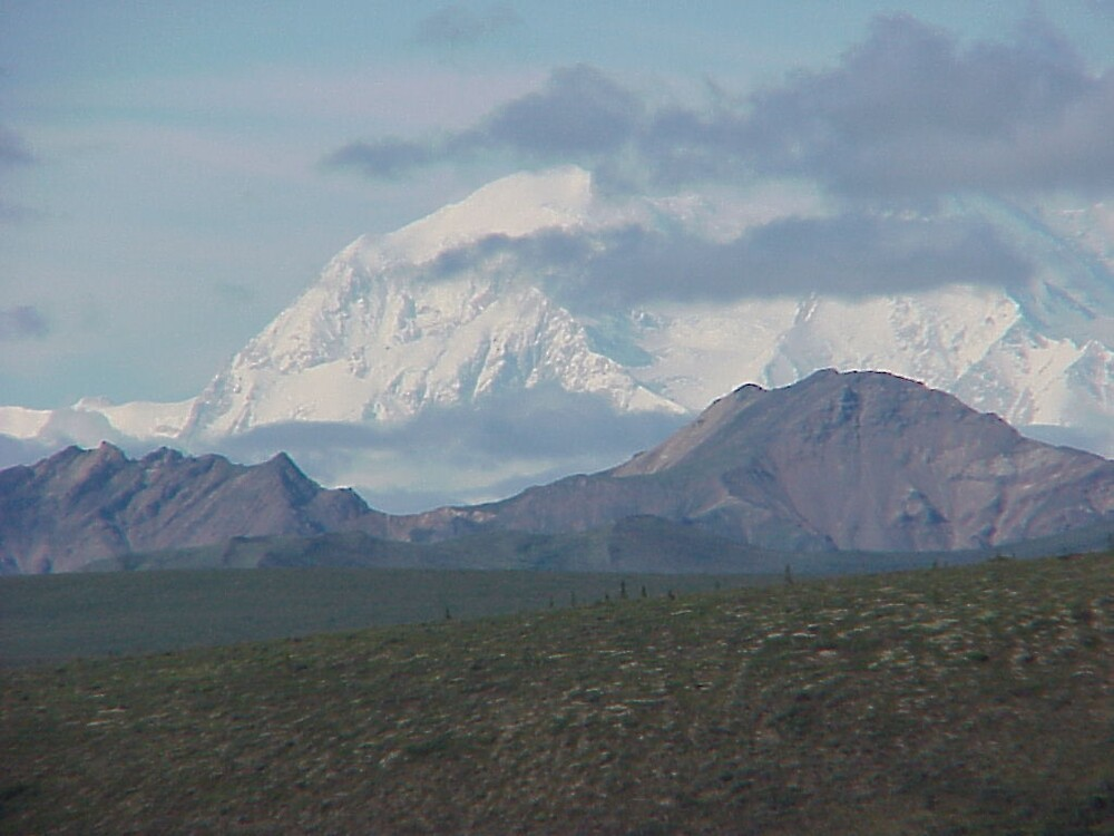 Mount McKinley in Denali Park Alaska by Crafter67