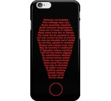 the comprehensive disclaimer shirt iPhone Case/Skin