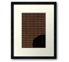 Funny Chocolate Bar Framed Print
