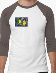 Spiky Daffodils.  Men's Baseball ¾ T-Shirt