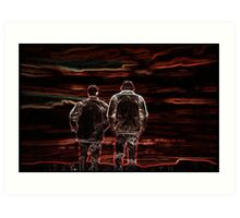 Happily Ever After - Supernatural's Sam & Dean! Art Print