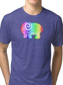 Rainbow Elephant Doodle Tri-blend T-Shirt